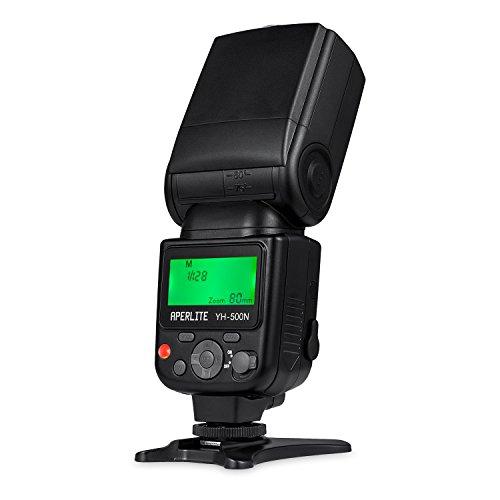 Aperlite Kit de Flash PRO YH-500N pour Nikon reflex numérique DSLR Supporte TTL, Modes S1 & S2 sans fil