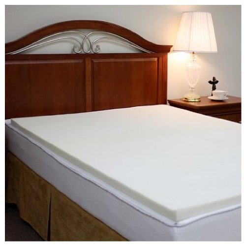 Purest Rio Home Fashions Purest 1-1/2-Inch Memory Foam Slab Mattress Pad/Topper, Cal King front-833639