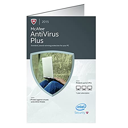 McAfee Antivirus Plus 2015 - 3 PCs