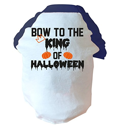 Bow to the king of halloween two toned dog vest pink or blue