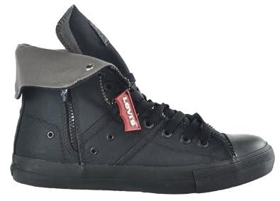Levi's Zip Ex Hi CT Twill Men's Sneakers Black Monochrome 514751-a48-13