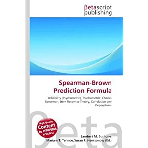 Spearman Brown Prediction Formula | RM.