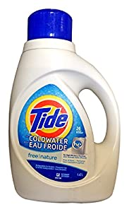 Tide Coldwater High Efficiency Free Nature Detergent, 50 Ounce (Pack of 2)