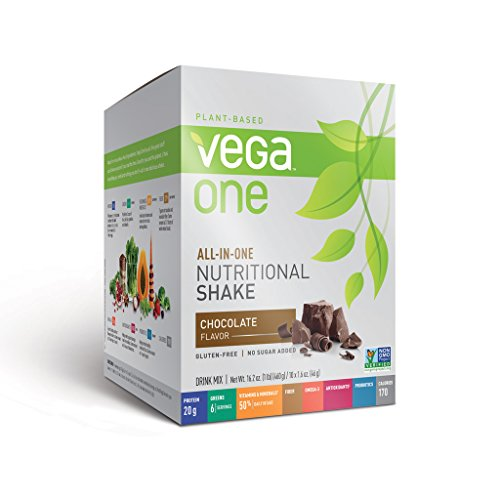 Vega One All-In-One Nutritional Shake, Chocolate, 10 Count front-69764