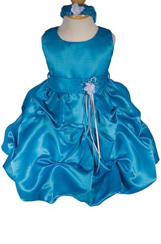 Amj Dresses Inc Baby-Girls Turquoise Flower Girl Party Dress Size 2T