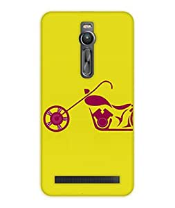 Happoz ASUS Zenfone 2 (ZE551ML) Cases Back Cover Mobile Pouches Shell Hard Plastic Graphic Armour Premium Printed Designer Cartoon Girl 3D Funky Fancy Slim Graffiti Imported Cute Colurful Stylish Boys D352
