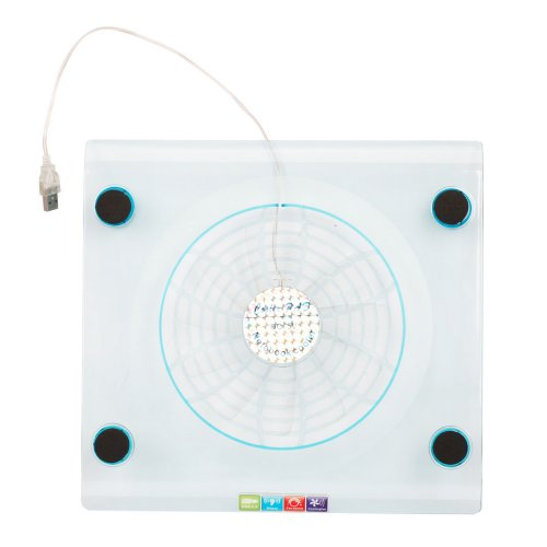 "Micromall(Tm) Usb Laptop Netbook Cool Cooling Pad Cooler With Big-Fans Blue Led Fan Fits Laptops With Screens From 14.1"" To 15.4"""