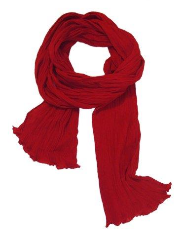 f481b4a0faf4 Chèche Écharpe Double Très Long 3 Mètres 100% coton Foulard rouge cerise