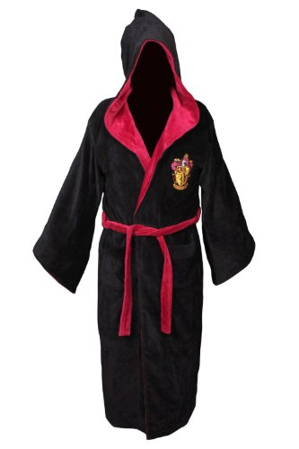 Harry Potter Gryffindor Cotton Hooded Bathrobe
