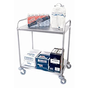 Craven Stainless steel Craven 2 Tier Undercounter Serving Trolley 777(H) x 776(W) x 521(D)mm