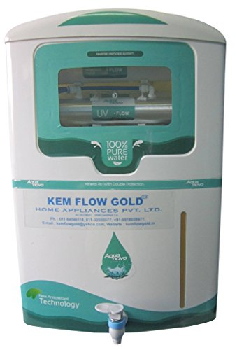 Kem-Flow-Gold-Aqua-Novo-10-Litre-RO-UV-Water-Purifier