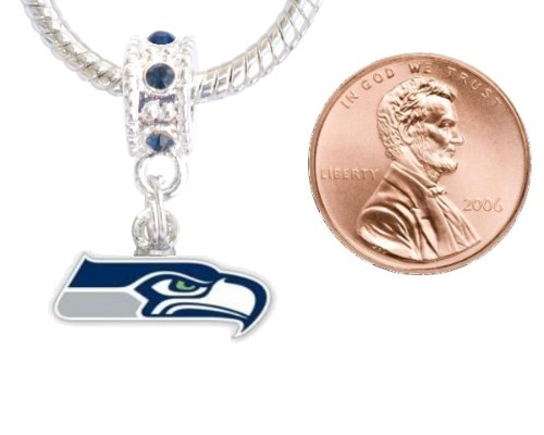 Seattle Seahawks Charm with Connector Will Fit Pandora, Troll, Biagi and More. Can Also Be Worn As a Pendant at Amazon.com