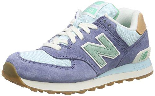 New Balance - 574, Zapatillas Mujer, Azul (Blue), 40.5 EU