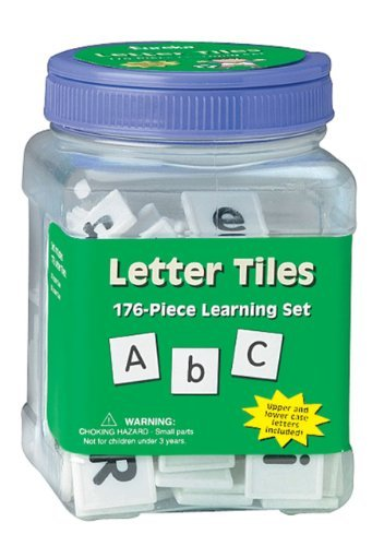 Eureka Tub Of Letter Tiles, 176 Tiles in 3 3/4 x 5 1/2 x 3 3/4 Tub Model: 867410, Toys & Games for Kids & Child