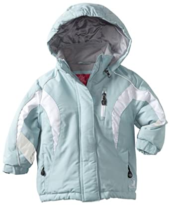 (2.9折)Rugged Bear Girls 2-6x Pieced Heavy Ski Jacket女童保暖滑雪服$31.56蓝