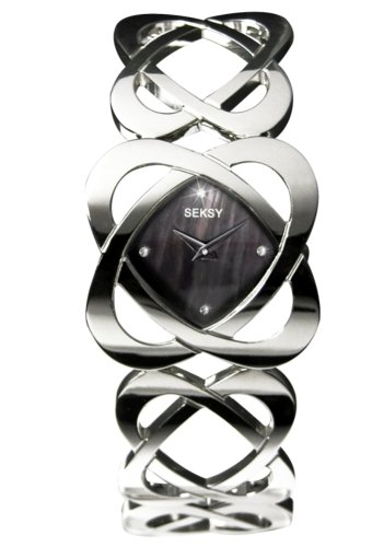 Seksy Black Hidden Hearts Ladies Bracelet Watch - 4159.37