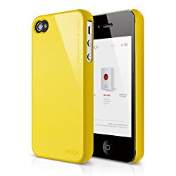 elago S4 Slim Fit 2 Case for iPhone 4/4S - Sport Yellow + HD Professional Extreme Clear film