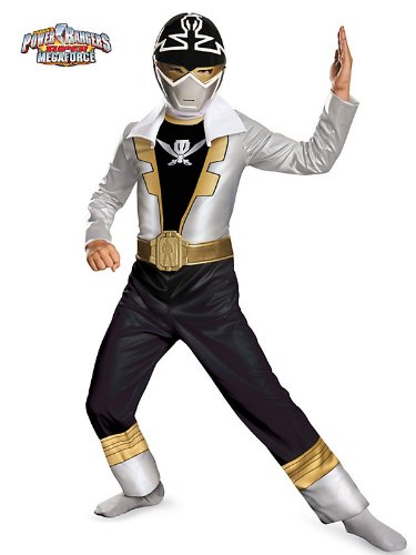 Disguise Saban Super MegaForce Power Rangers Special Ranger Silver Classic Boys Costume, Small/4-6 (Saban Super Megaforce Power Rangers Muscle Costume)
