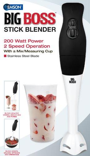 Big Boss 200 Watt Power 2-Speed Operation Immersion Hand-Stick Blender/Mixer With A Mix/Measuring Cup