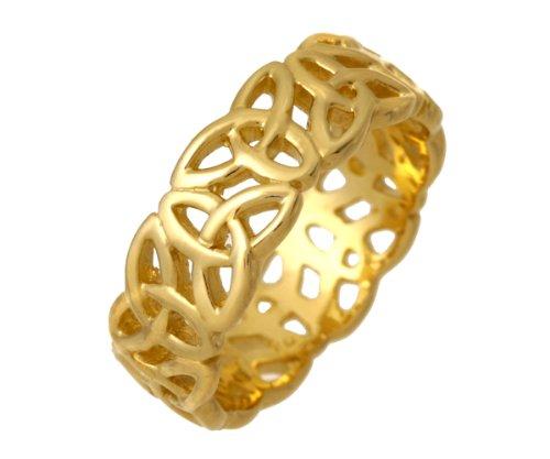 9ct Yellow Gold Ladies' Band Ring Size P