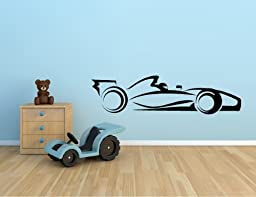 RACE CAR INDY CAR F1 RACING NASCAR VINYL WALL DECAL STICKER KIDS BOYS ROOM HOME DECOR 10\