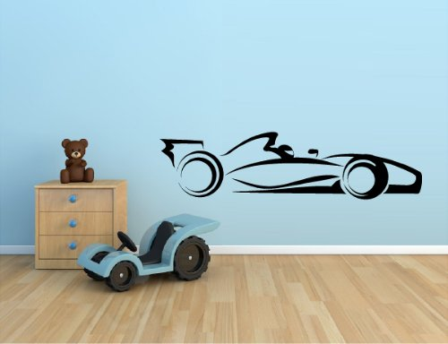 "RACE CAR INDY CAR F1 RACING NASCAR VINYL WALL DECAL STICKER KIDS BOYS ROOM HOME DECOR 10""X39"""