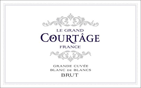 NV Le Grand Courtȃge France Grande Cuvée Blanc de Blancs Brut 187 mL Sparkling Wine