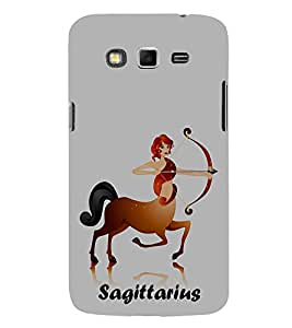 Sagittarius 3D Hard Polycarbonate Designer Back Case Cover for Samsung Galaxy Grand I9082 :: Samsung Galaxy Grand Z I9082Z