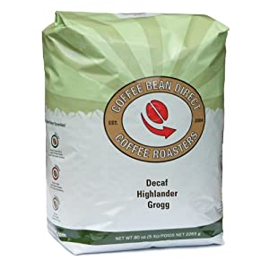 Coffee Bean Direct Decaf Flavored Whole Bean Coffee, 5 Pound