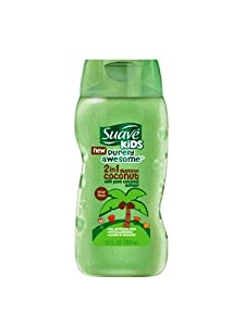 Suave Kids 2 In 1 Shampoo and Conditioner, Purely Awesome Coconut, 12 Ounce
