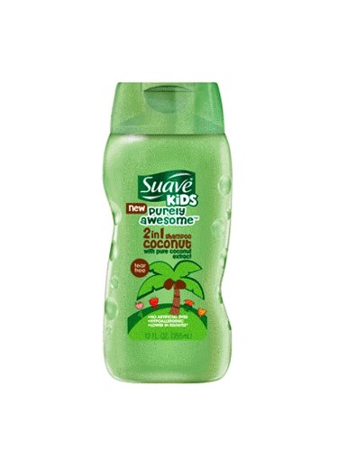 Suave Kids 2 In 1 Shampoo And Conditioner, Purely Awesome Coconut, 12 Ounce (Pack Of 2) front-10990