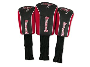 NFL Tampa Bay Buccaneers 3 Pack Mesh Longneck Headcover Set by McArthur Towel and Sports