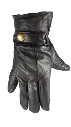 MENS LEATHER GLOVES FLEECE FULLY LINED SOFT WINTER WARM DRIVING