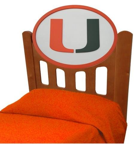 Cheap University of Miami Hurricanes Kids Wooden Twin Headboard With Logo (C0526S-Miami)