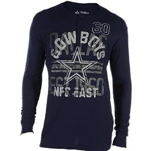 Dallas Cowboys Mens Renegade Henley T-Shirt by Dallas Cowboys