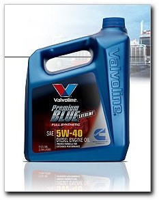 Valvoline Premium Blue Extreme Full Synthetic Motor Oil, 5W40, gallon (70518)