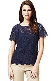 Autograph Lace Shell Top with Camisole