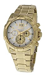 Seiko lord stainless steel chronograph white dial mens watch-[SPC190P1]