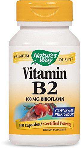 Nature's Way Vitamin B2, 100 mg Riboflavin,  100 Capsules