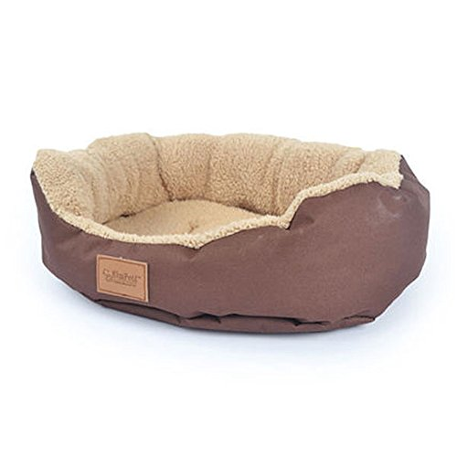 FFMODE Pet Dog Puppy Cat Soft Warm Bed Cozy Soft House Fleece Nest Cotton Mat Pad 18*16″, Coffee, M
