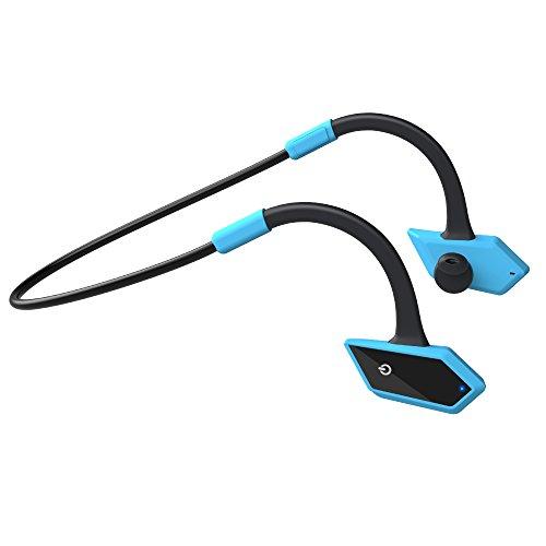LEVIN Bluetooth イヤホン 防水&防汗(IP66防水等級) ソフトな耳掛け式 スポーツ仕様 ワイヤレスヘッドホン ヘッドセット (ブルー&ブラック)