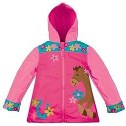 Stephen Joseph Little Girls\'  Rain Coat, Girl Horse, 6/6X