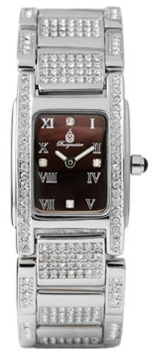 Burgmeister Louisiana Bm188-490 Ladies Analogue Quartz Wristwatch Stainless Steel Bracelet Brown Dial