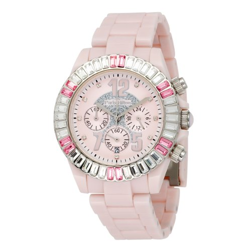 Paris Hilton Women's 138.4324.99 Chronograph Pink Dial Watch
