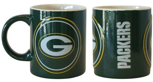 Green Bay Packers Coffee Mug - 14Oz Sculpted Warm Up