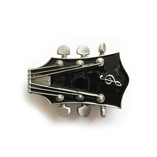 eeddoo-Grtelschnalle-Gitarre-schwarz-Music-Guitar-Buckle-fr-Wechselgrtel-fr-Damen-und-Herren-Belt-Frauen-Mnner-Musik-Rock-n-Roll-Pop-Heavy-Metal-Oldschool-Metall-Western-Trucker