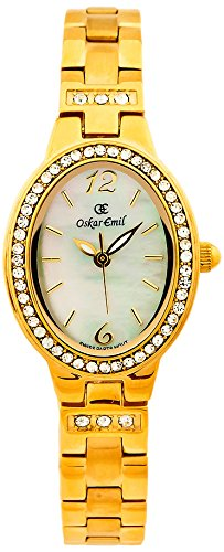 Oskar-Emil Classic Watches - Paris Gold Ladies - Montre Femme - Quartz - Analogique - Bracelet Acier inoxydable doré