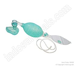 IndoSurgicals Artificial Resuscitator (Ambu Type Bag) Adult