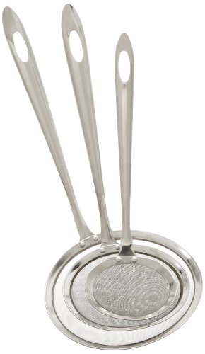 Cook Pro Stainless Steel Mesh Strainers With Fine Mesh Scoop, Set Of 3