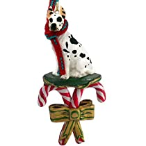 Great Dane Harlequin Dog Candy Cane Christmas Holiday Ornament